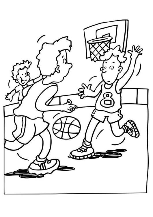malvorlage basketball  ausmalbild 12053