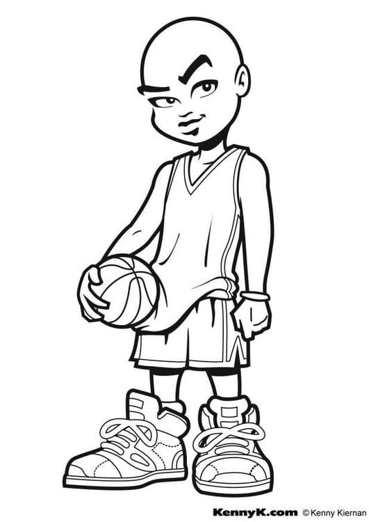 Basketball Ausmalbild