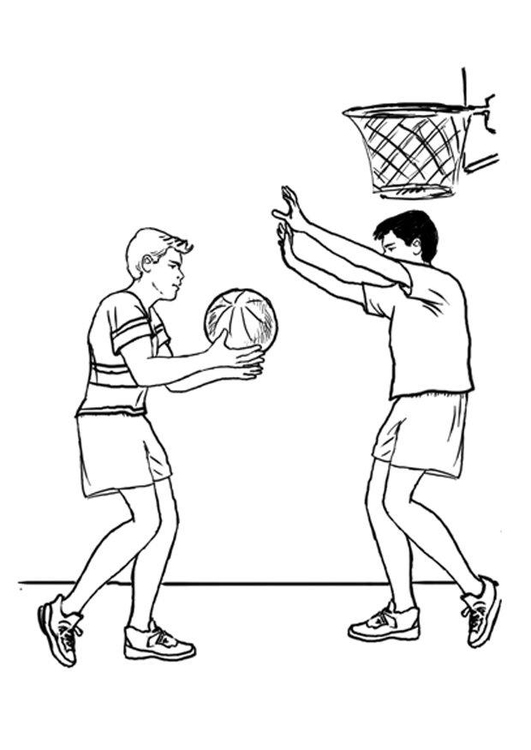 Malvorlage Basketball | Ausmalbild 7877.