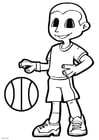 Malvorlage  Basketball