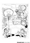 Malvorlage  Basketballkorb