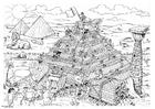 Malvorlage  Bau der Pyramide