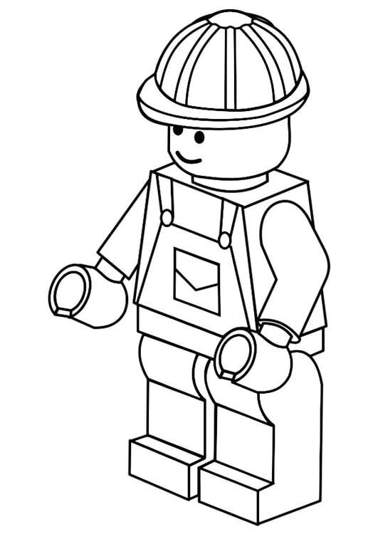 Malvorlage Bauarbeiter | Ausmalbild 20120.