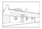 Malvorlage  Bauernhof 18. Jahrhundert