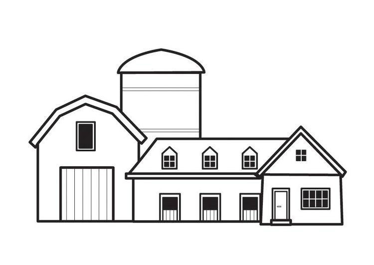 Malvorlage Bauernhof Ausmalbild 23128