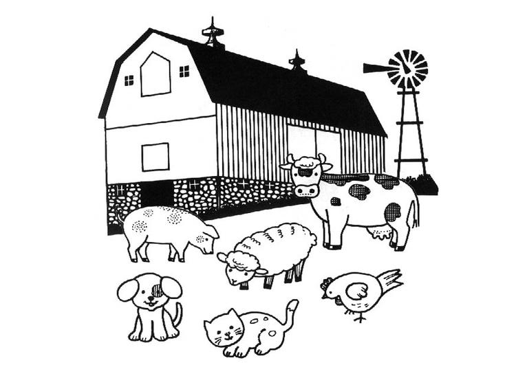 Malvorlage Landwirt