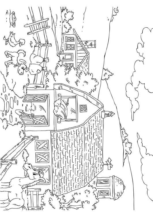 Malvorlage Bauernhof Ausmalbild 26227
