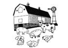 Malvorlage  Bauernhof
