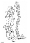Malvorlage  Bauklotze stapeln