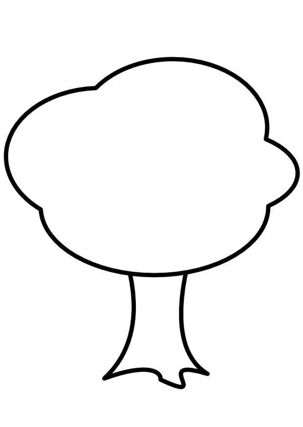Malvorlage Baum   Ausmalbild 9981.
