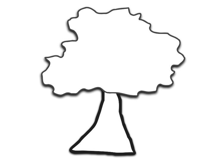 Malvorlage Baum   Ausmalbild 19689.