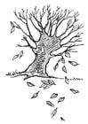 Malvorlage  Baum im Herbst