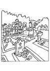 Malvorlage  Begräbnis