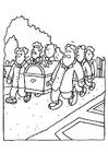 Malvorlage  Begräbnis - Sarg