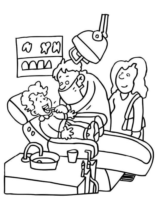 Malvorlage Beim Zahnarzt Ausmalbild 6482