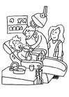 Malvorlage  Beim Zahnarzt