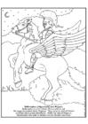 Malvorlage  Bellerophon und Pegasus