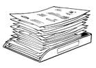Malvorlage  Berg Papiere