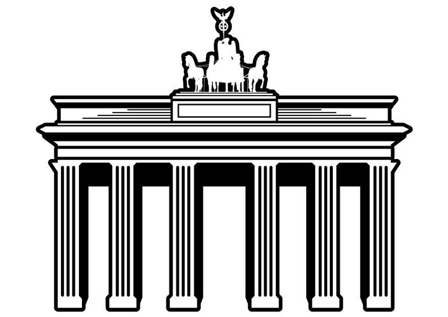 Malvorlage Berlin - Brandenburger Tor | Ausmalbild 29903.