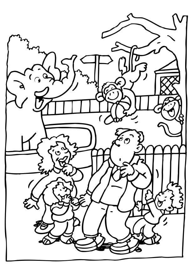Malvorlage Besuch Im Zoo Ausmalbild 6481