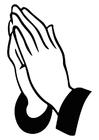 Malvorlage  beten