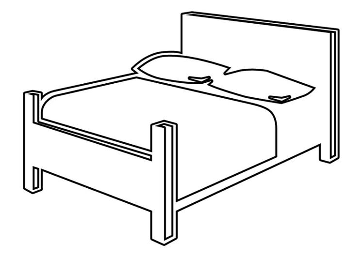 Malvorlage Bett Ausmalbild 22531