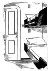 Malvorlage  Bett - Schlafstelle auf einem Schiff