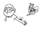 Malvorlage  Bienenstich