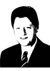 Malvorlage  Bill Clinton