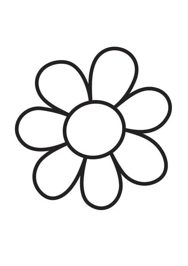 Malvorlage Blume | Ausmalbild 18357.