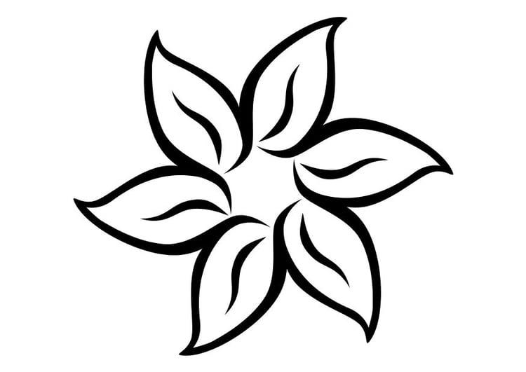 Malvorlage Blume | Ausmalbild 11710.
