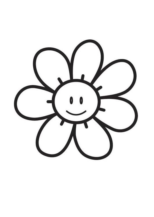 Malvorlage Blume | Ausmalbild 18349.