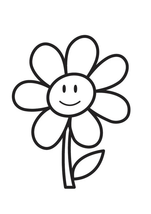 Malvorlage Blume | Ausmalbild 18354.