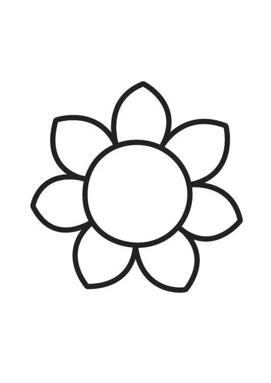 Malvorlage Blume | Ausmalbild 18356.