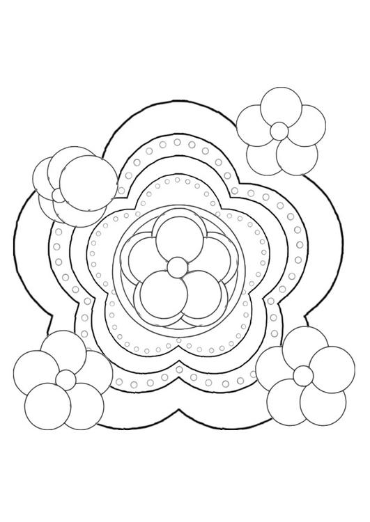 Malvorlage Blume   Ausmalbild 29103.