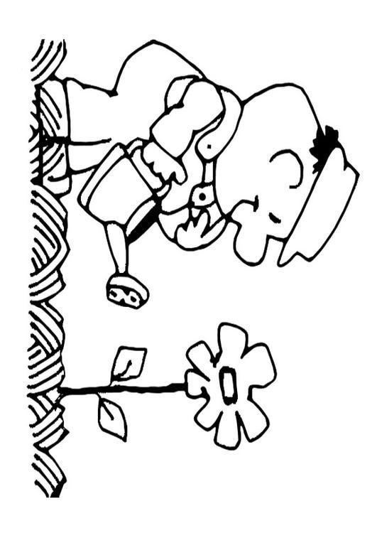 Malvorlage Blumen Giessen Ausmalbild 22182