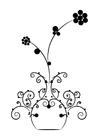 Malvorlage  Blumen in Vase