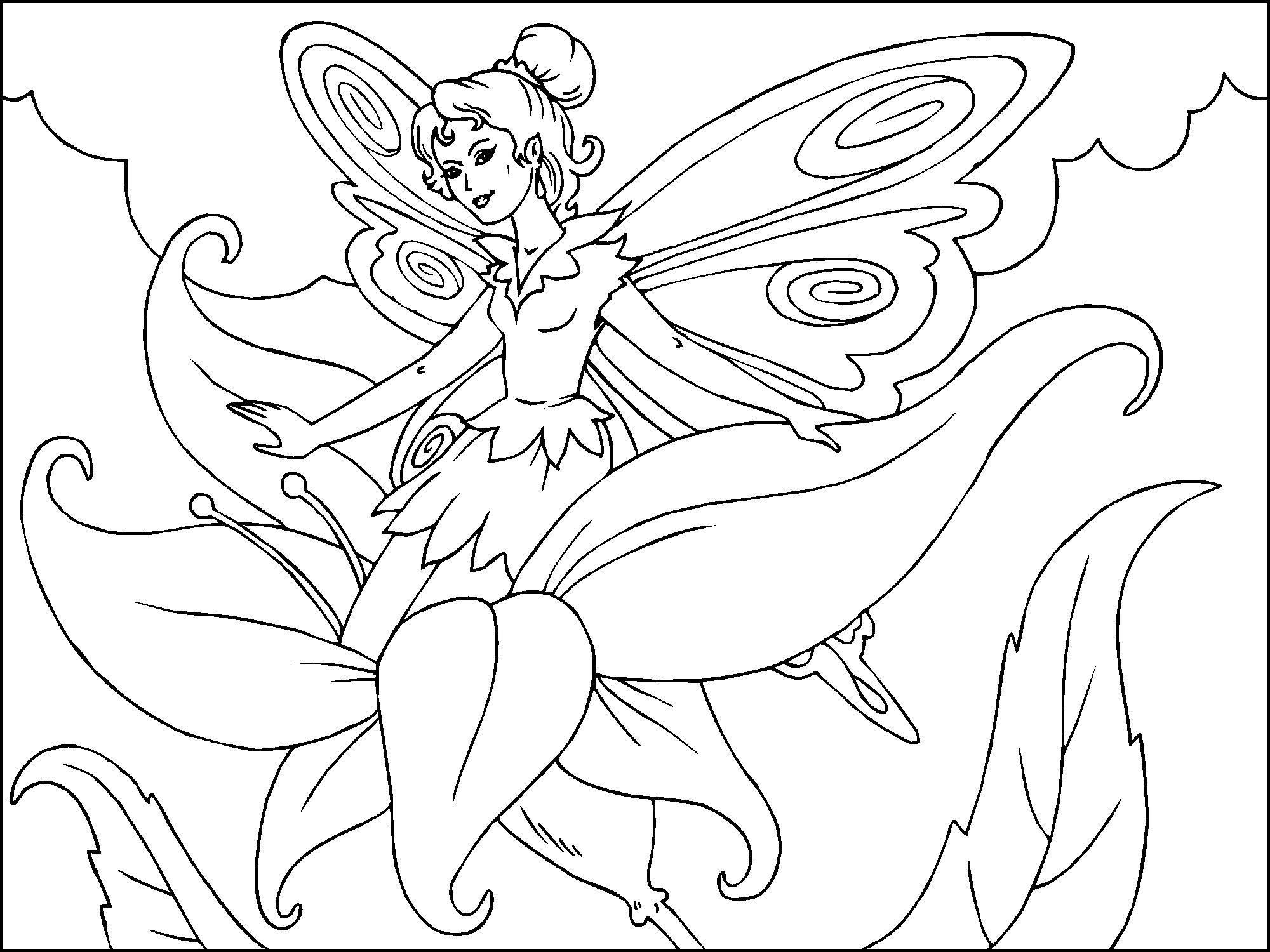zauberfee malvorlage  coloring and malvorlagan