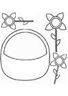 Malvorlage  Blumenkörbchen