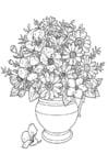 Malvorlage  Blumenmix