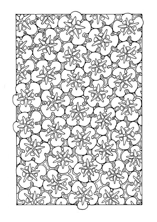 Malvorlage Blumenmuster : Ausmalbild 27748.