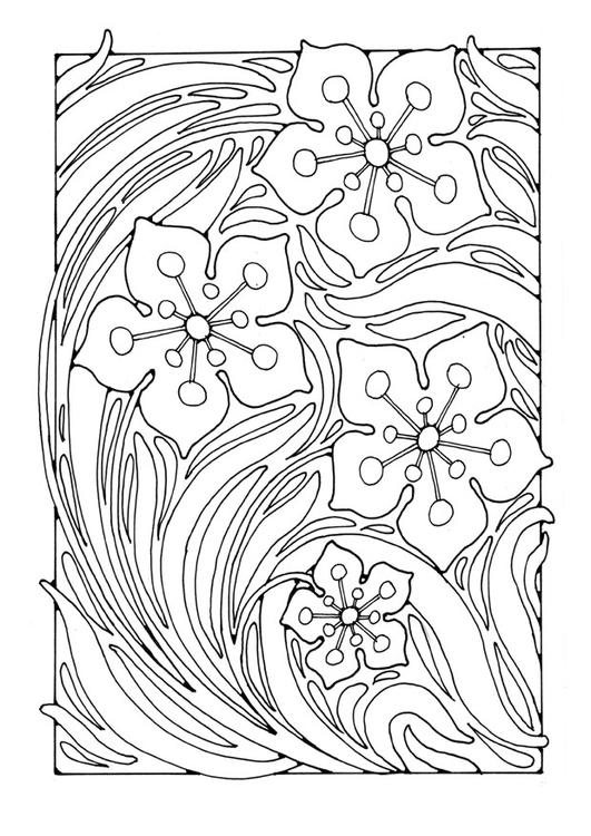 Malvorlage Blumenmuster Ausmalbild 27760