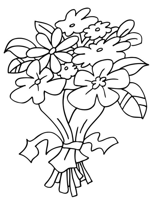 Malvorlage Blumenstrauss Ausmalbild 6590