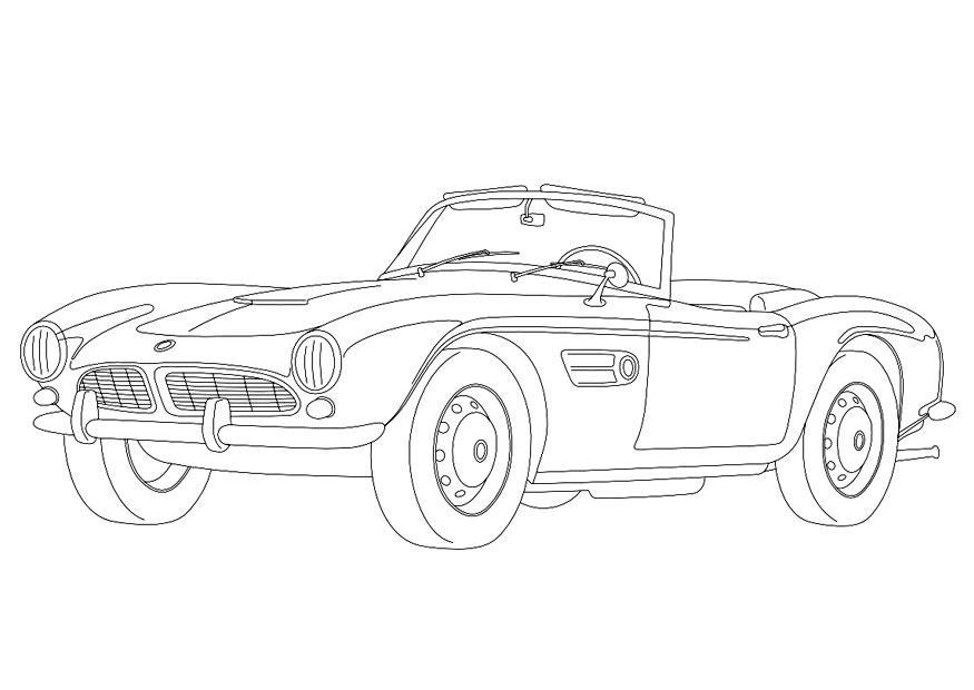 Kleurplaten Auto Mercedes.Kleurplaat Auto Bugatti Malvorlage Bmw 507 Ausmalbild 9957