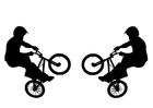 Malvorlage  BMX