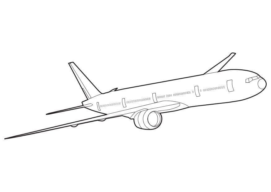 Kleurplaat Van Volwasen Dieren Klm Kleurplaat Malvorlage Boeing 777 Ausmalbild 10266