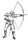 Malvorlage  Bogenschütze