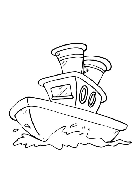 Malvorlage Boot Ausmalbild 10586