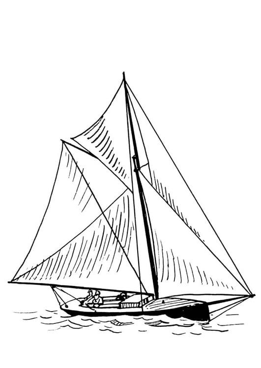 Malvorlage Boot Ausmalbild 18907