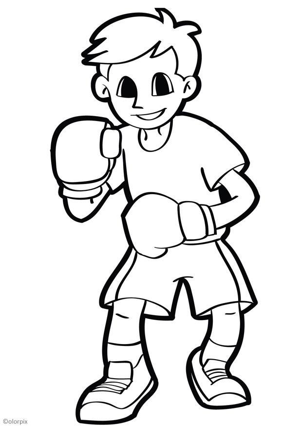 Раскраска боксёров